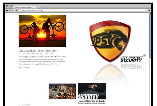 graphisme pour vps sécurité en france, affiche, flyers et logo