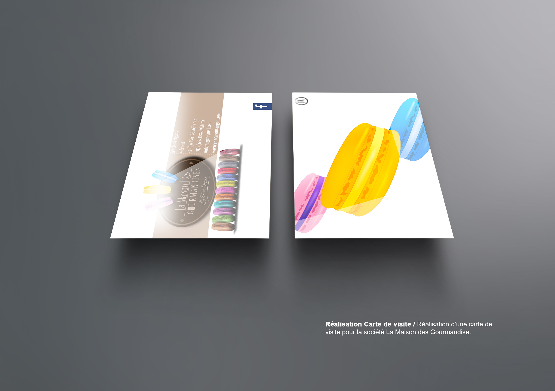 Carte De Visite Graphiste Freelance Pour Macaron